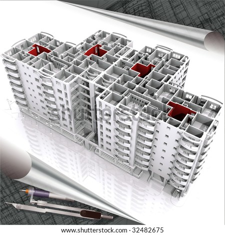 building perspective - stock photo