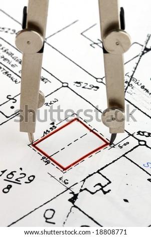 building plan - stock photo