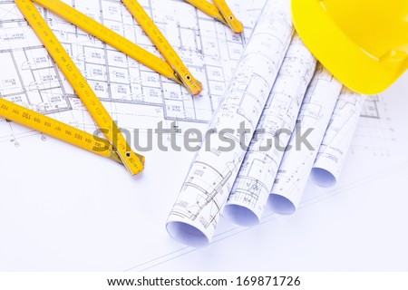building project under construction - stock photo