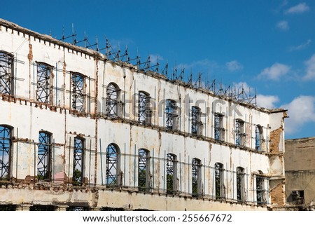 Building reconstruction - stock photo