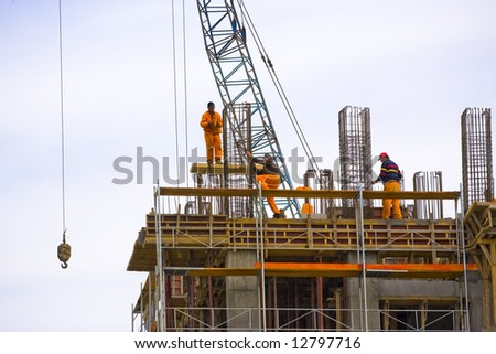 Building Site for business building - stock photo