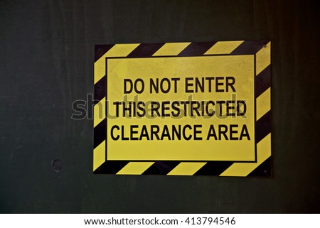 Building Site sign, restrict clearance area in New York City, USA