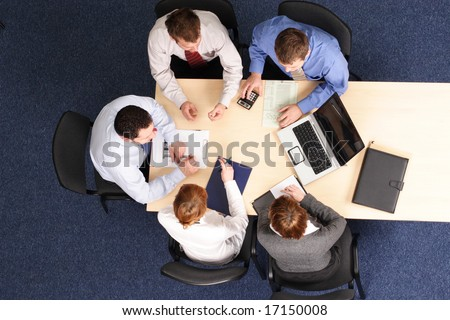 building strategy - business people meeting - stock photo