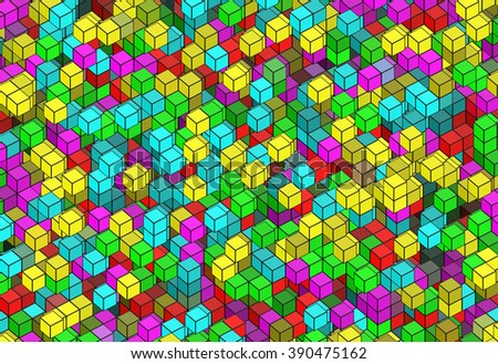 building structure from cubes. Abstract architecture backgrounds - stock photo
