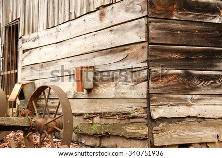 Building/Tobacco Leaves/An old tobacco building where the leaves were hung to dry in North Carolina.  - stock photo