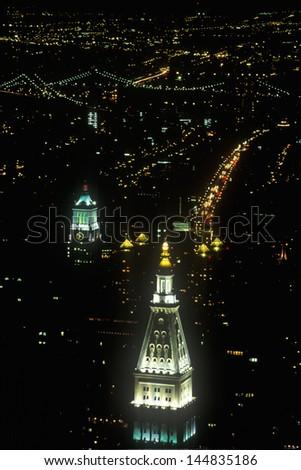 Building tops, New York City, NY - stock photo