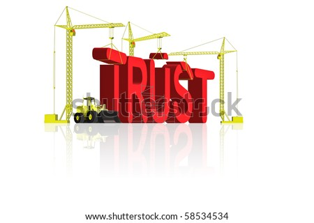 building trust and confidence make people belief in you be honest - stock photo