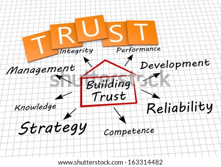 Building trust as a concept - stock photo