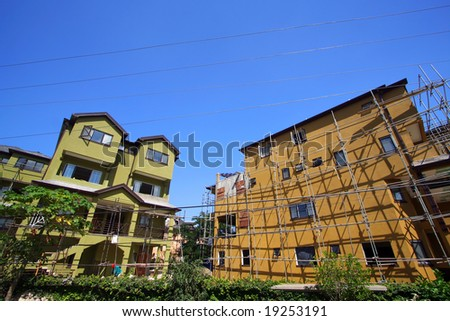 building under construction - stock photo