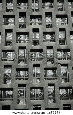 Building window tiles - stock photo