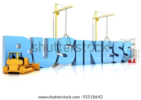 Building your Business , BUSINESS word, representing business development - stock photo