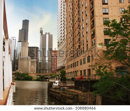 Buildings and Modern Skyscrapers - Chicago - stock photo