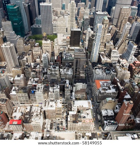 Buildings in a big City - stock photo