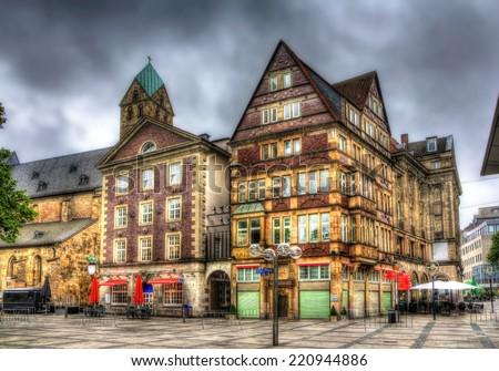 Buildings in Alter Markt square in Dortmund, Germany - stock photo