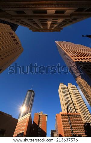 Buildings in Downtown Atlanta, Georgia USA - stock photo