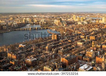 Buildings in downtown Boston Massachusetts USA