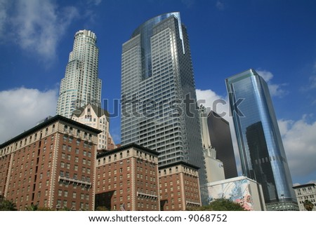 Buildings in Downtown Los Angeles - stock photo