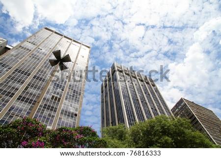 Buildings in Downtown Sao Paulo, Brazil. - stock photo