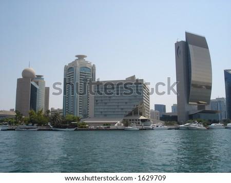 Buildings in Dubai - stock photo