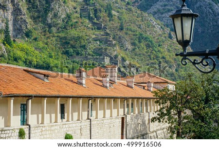 Buildings in Kotor, Montenegro