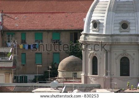 Buildings in Messina, Italy. - stock photo