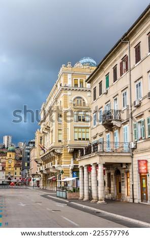 Buildings in Rijeka - Croatia - stock photo