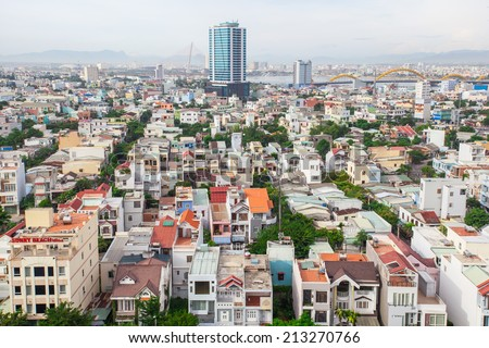 Buildings in the city of Da Nang, Vietnam.