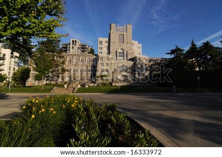 Buildings in university of British Columbia - stock photo