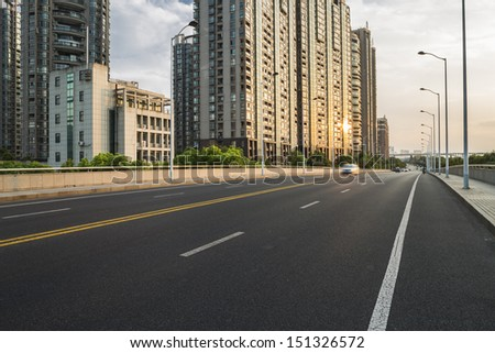buildings in urban city - stock photo