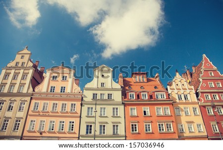 Buildings in Wroclaw - stock photo