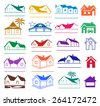 Buildings logo set isolated on white background - stock vector