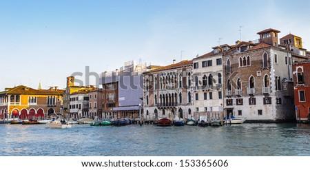 Buildings of the Grande Canale di Venezia (Big channel of Venice), Italy - stock photo