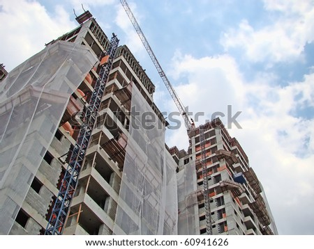 buildings under construction - stock photo
