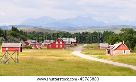 buildings with rustic background