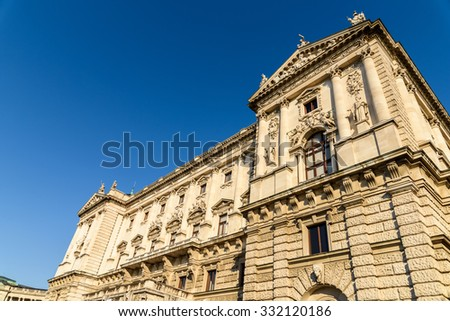Built in the 13th century Hofburg Palace is the former imperial palace in the centre of Vienna and is the official residence and workplace of President of Austria. - stock photo