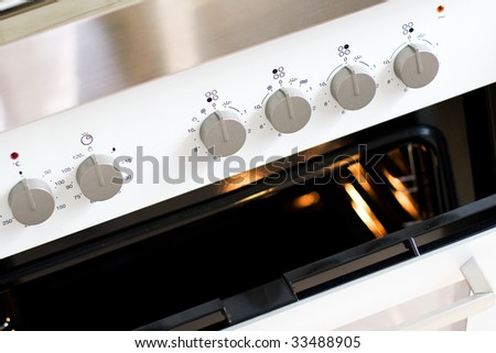 built-in top range - stock photo