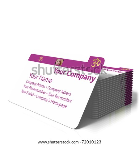 buisness card - stock photo