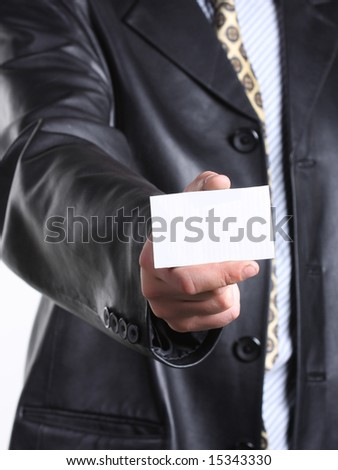 Buisnessmen with message on hand.