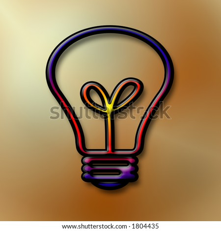 bulb abstract - stock photo