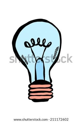 bulb doodle - stock photo