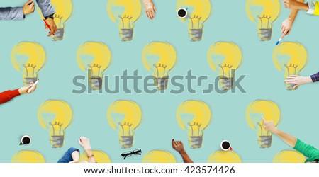 Bulb Electricity Illumination Idea Lighting Concept - stock photo