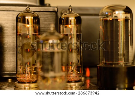 Bulb for amplifier - stock photo