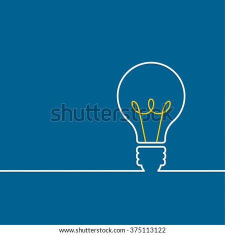 Bulb light idea. concept of big ideas inspiration innovation, invention, effective thinking. text - stock photo