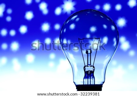 bulb on abstract background
