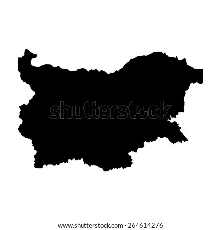 Bulgaria blank map - stock photo