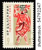 BULGARIA - CIRCA 1960: A stamp printed in Bulgaria showing drummer, circa 1960 - stock photo