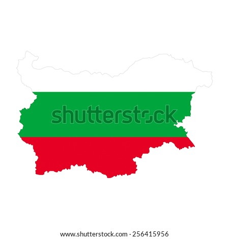 Bulgaria map - stock photo