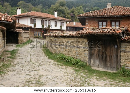 Bulgarian village - 24 - stock photo