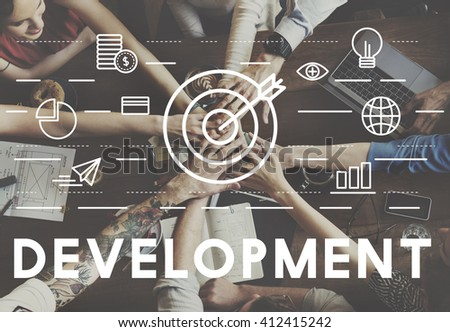 Bull's Eye Goal Mission Icon Development Concept - stock photo