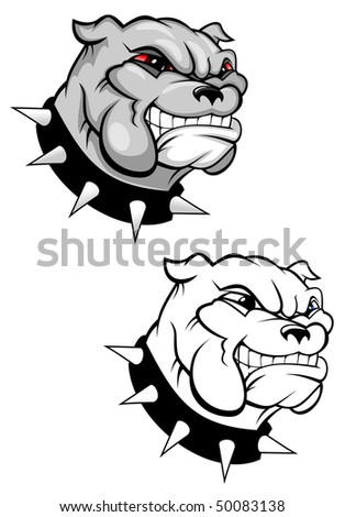 Bulldog mascot for design isolated on white or logo template. Vector version is also available   - stock photo